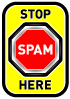 stop spam here logo